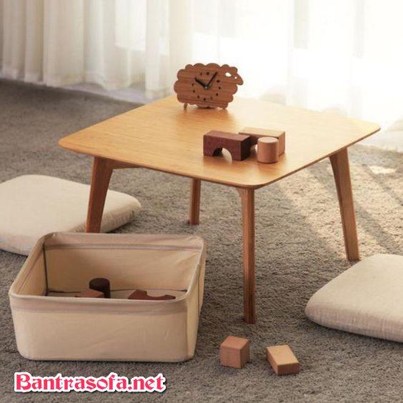 bàn sofa đẹp nhỏ gọn phong cách Nhật Bản