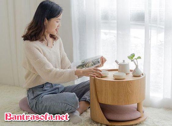 bàn trà uống nước ngồi bệt