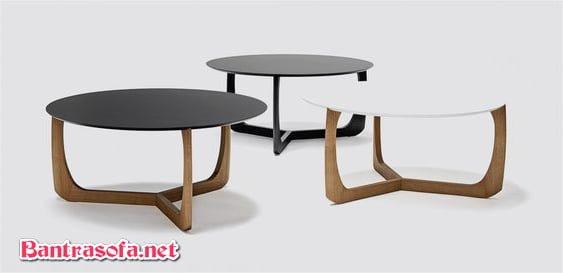 bộ 3 bàn trà phong cách hiện đại châu âu
