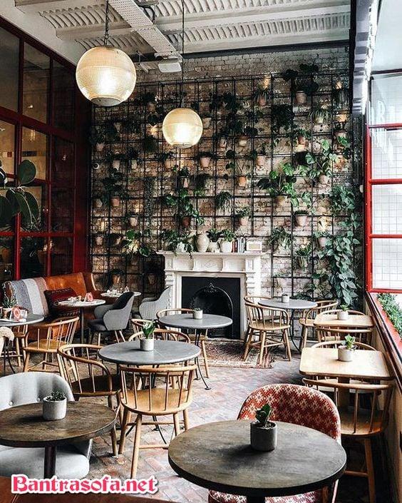 bàn ghế phòng trà gỗ tự nhiên