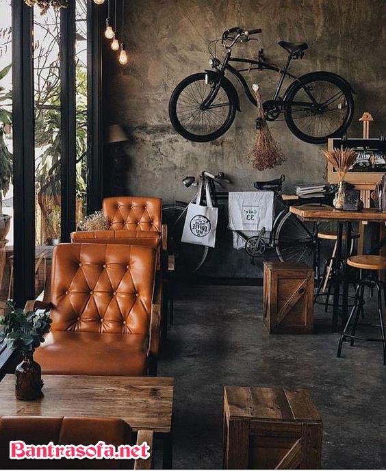 bàn ghế ngồi quán cafe