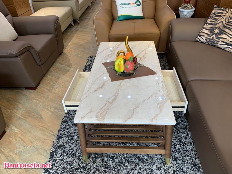 bàn trà sofa có 2 ngăn kéo chứa đồ tiện lợi