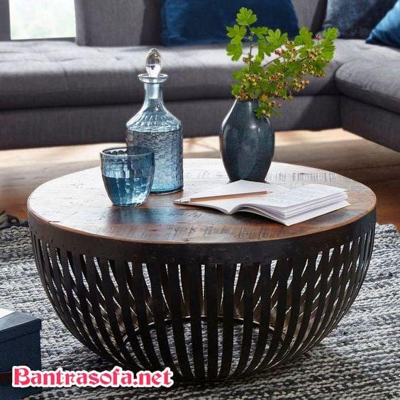 bàn trà hình tròn đẹp hình lồng chim