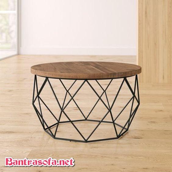 bàn trà tròn hình kim cương