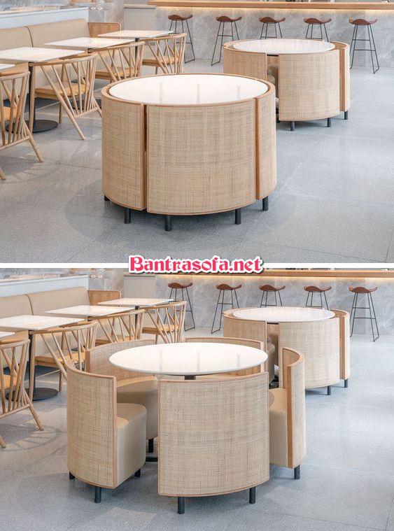 bàn uống nước văn phòng xếp gọn