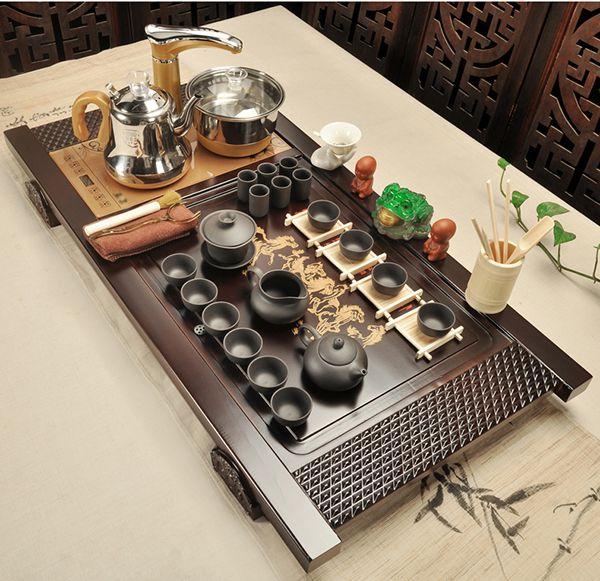 Bàn trà điện Trung Quốc thông minh tinh tế.