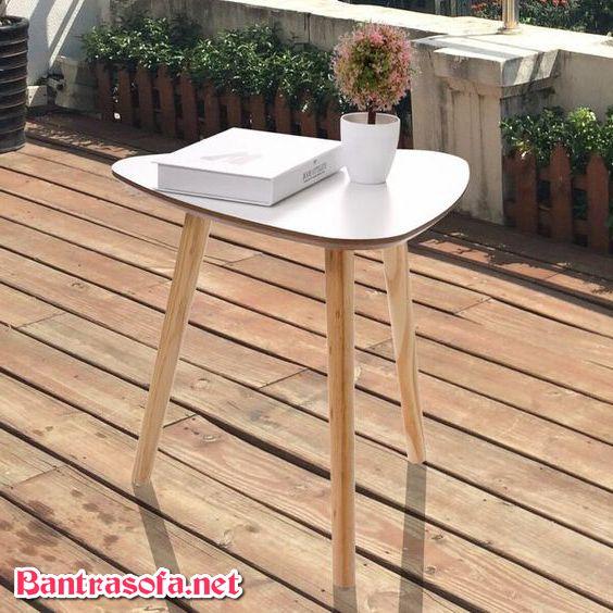 bàn trà ngoài trời chân gỗ đẹp