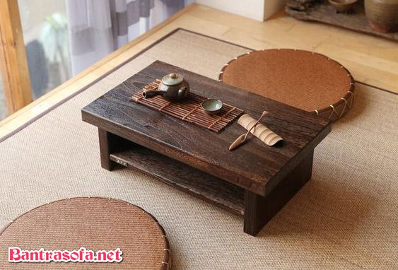 bàn trà decor Nhật bản