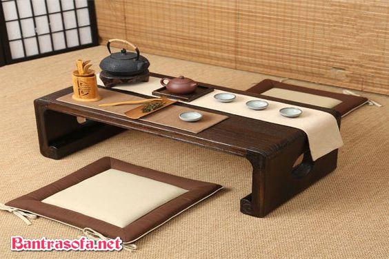 bàn trà nhật decor ngồi bệt