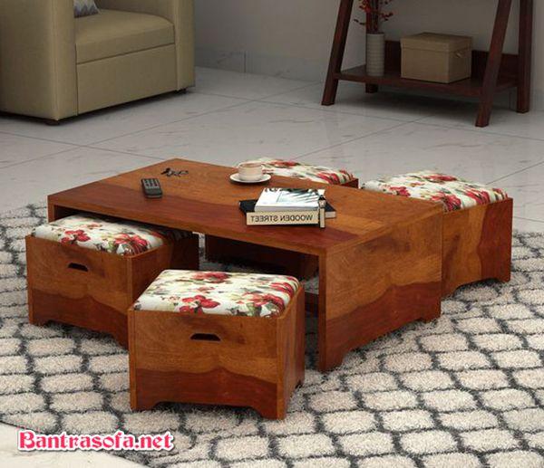 set bàn trà và ghế ngồi gỗ tự nhiên