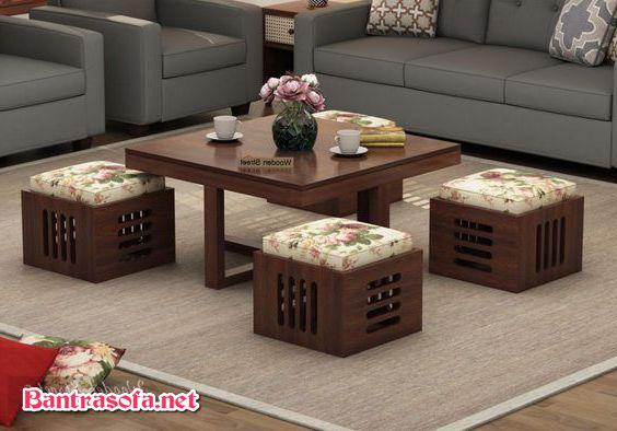 bàn trà decor xếp gọn
