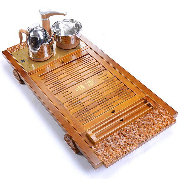 khay pha trà bằng điện