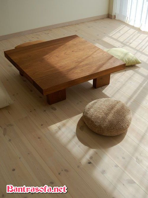 bàn uống trà bằng gỗ đẹp phong cách Nhật