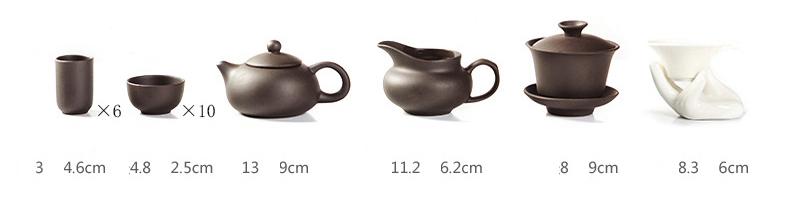 Các vật dụng tặng kèm khi mua khay trà điện.