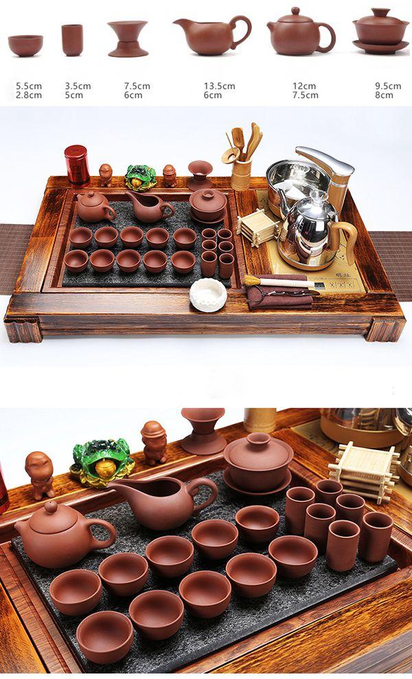 Tặng kèm nhiều món đồ phụ kiện ấm pha trà khi mua bàn trà điện thông minh.