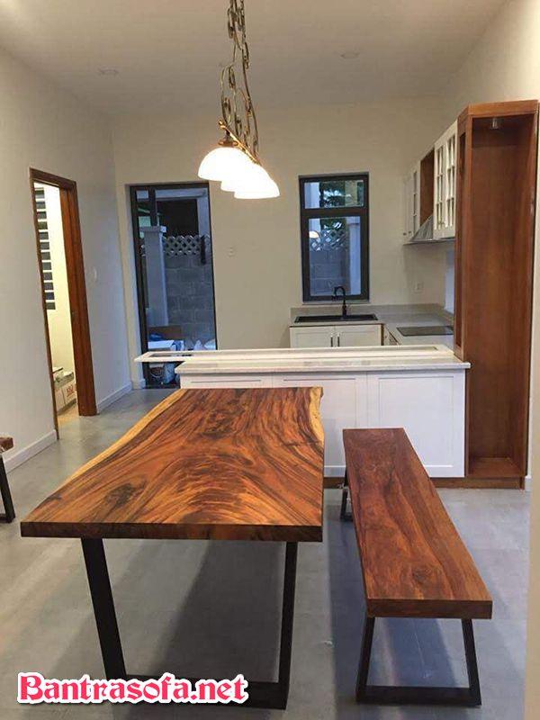 bàn ăn bằng gỗ me tây