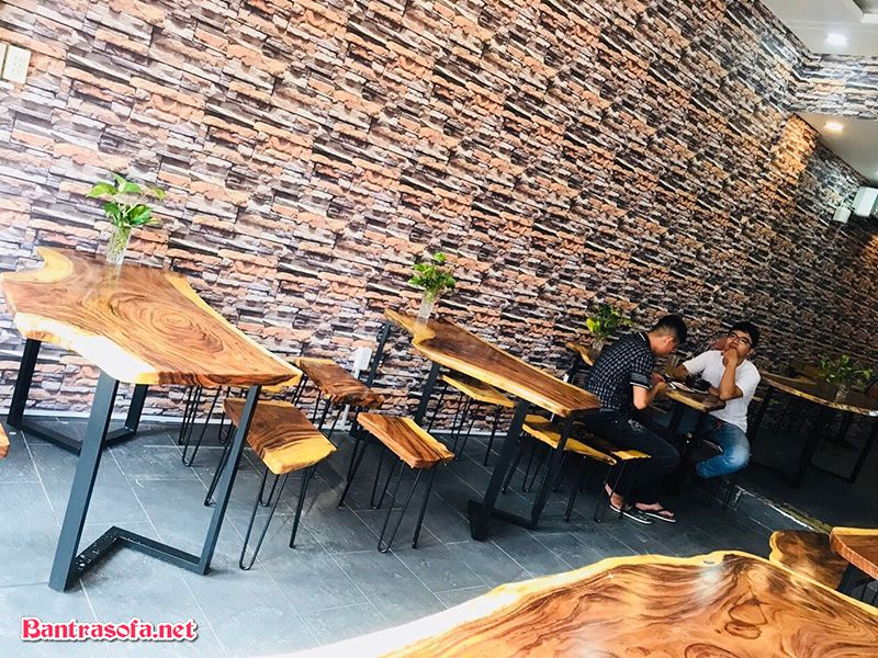 bàn cafe gỗ me tây