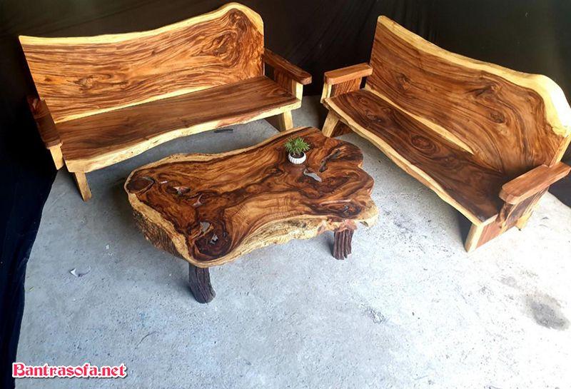 bộ bàn ghế gỗ me tây trường kỷ