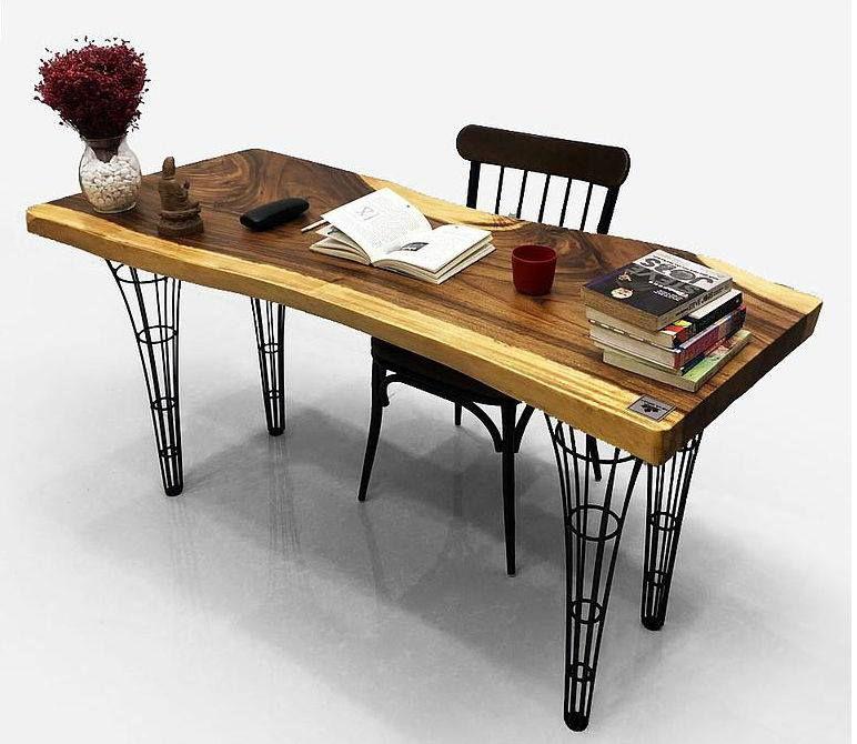 bàn làm việc bằng gỗ me tây