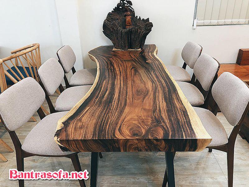 mặt bàn ăn gỗ me tây