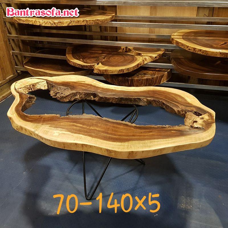 Giá mặt bàn trà epoxy gỗ me tây