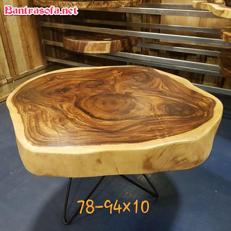bàn trà gỗ me tây nguyên tấm