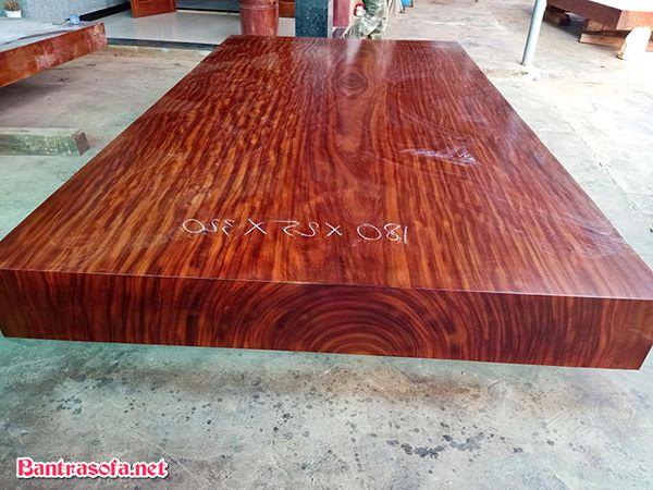 mặt bàn gỗ tự nhiên cẩm hồng Nam Phi