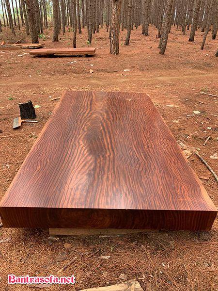 Mặt bàn gỗ cẩm hồng tự nhiên nguyên khối