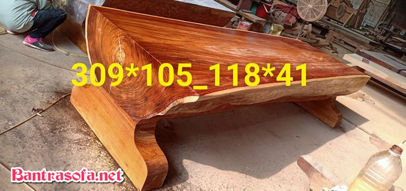 mặt bàn gỗ gõ đỏ tự nhiên