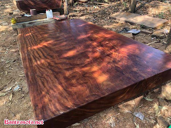 mặt bàn gỗ gỏ đỏ nam phi