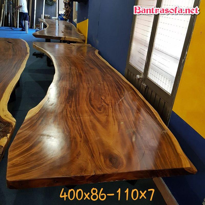 mặt bàn gỗ nguyên tấm từ me tây