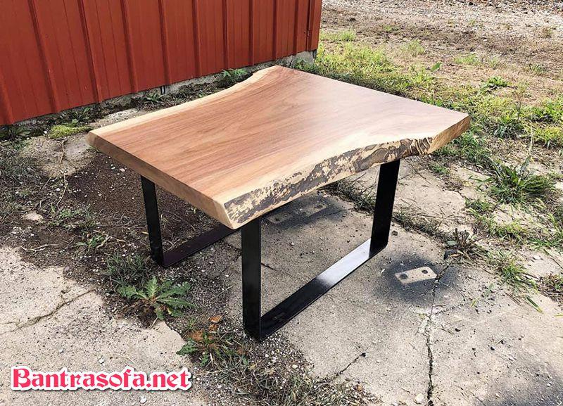 mặt bàn sofa gỗ me tây vuông