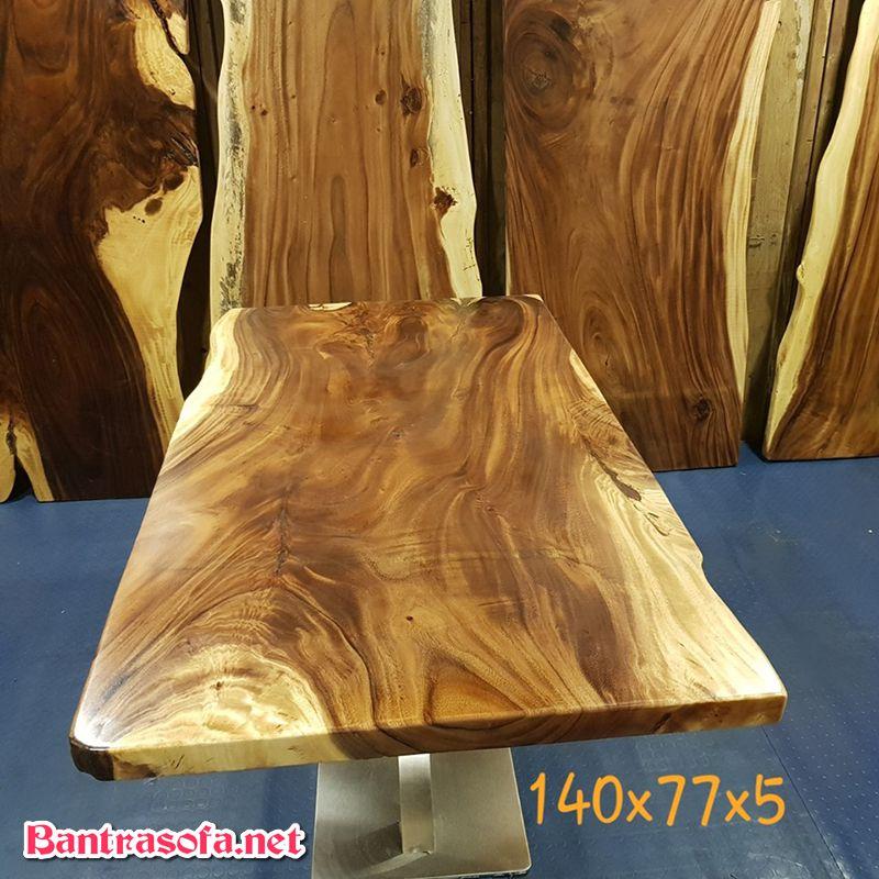 mặt bàn gỗ me tây vuông