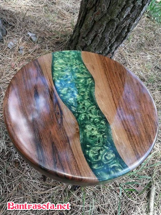 mặt bàn gỗ epoxy resin gỗ óc chó