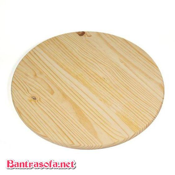 mặt bàn tròn gỗ thông