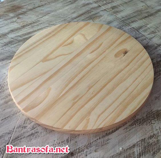 mặt bàn gỗ thông tự nhiên
