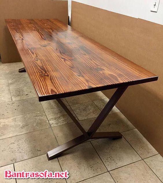 mặt bàn gỗ thông tự nhiên hình chữ nhật