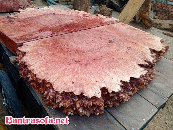 mặt bàn gỗ xá xị tự nhiên