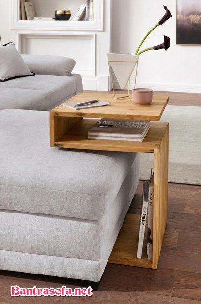 bàn bênh cạnh sofa bằng gỗ