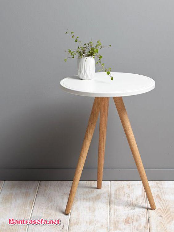 bàn bênh cạnh sofa tròn