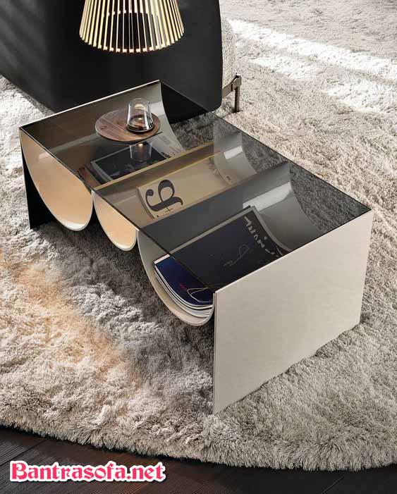 bàn trà sofa mặt kính râm