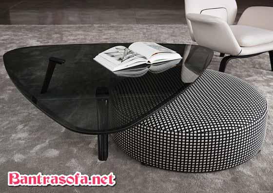 bàn trà sofa mặt kính đen