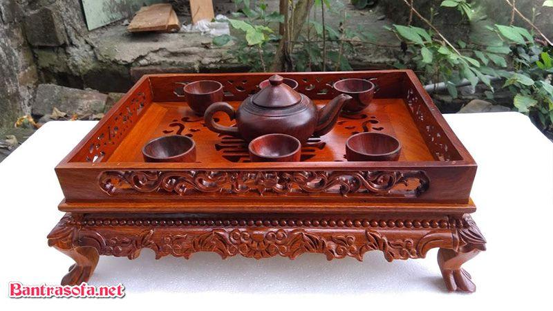 khay trà bằng gỗ hương