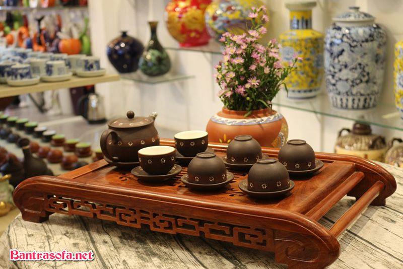 khay trà gỗ hương đẹp
