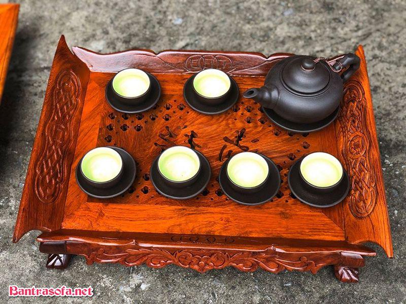 khay trà bằng gỗ hương ta