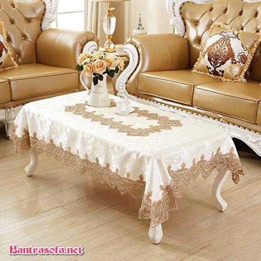 khăn trải bàn trà tân cổ điển đẹp mắt
