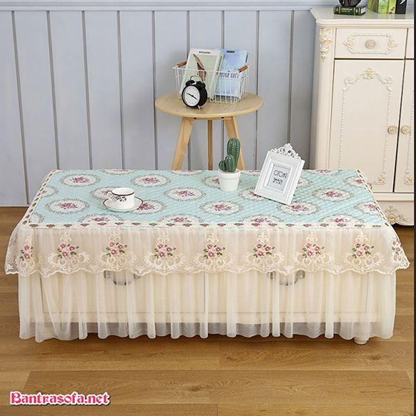 khăn trải bàn bằng vải voan