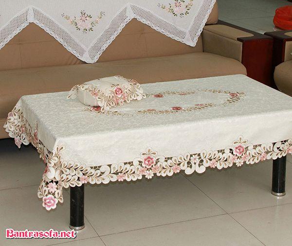 khăn trải bàn sofa