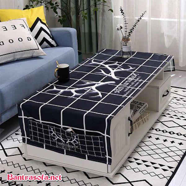 khăn trải bàn sofa màu đen