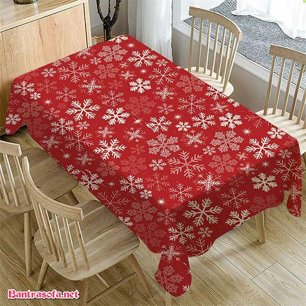 Khăn trải hình bông tuyết dành riêng cho dịp Giáng Sinh đón năm mới theo truyền thống của người phương Tây hoặc theo đạo Công Giáo.